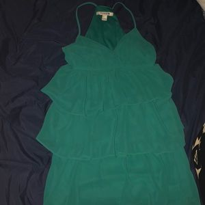 Turquoise flare dress. Size S.
